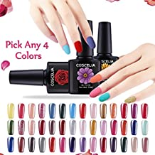 Coscelia Pick Any 4 Colors UV Gel Nail Polish Nail Art Home Salon Set