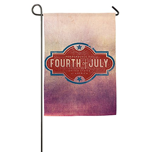 Fourth July 4th Horizontal Design Mini Fall Yard Garden Flag