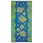 Terry Beach Towel - fishes