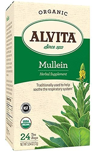 Mullein Leaf 24 Bags by (Alvita Teas Mullein Leaf Tea)
