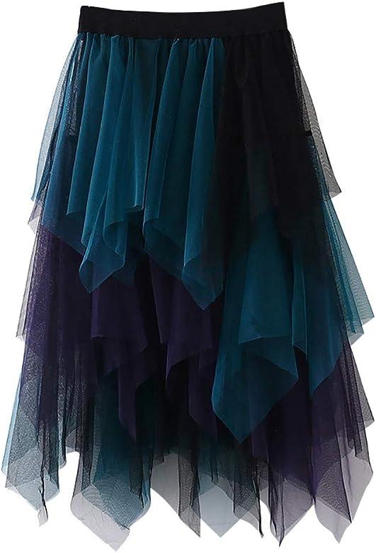 Sylar Falda de Tul para Mujer Cintura Alta Falda Tutu niña Faldas ...