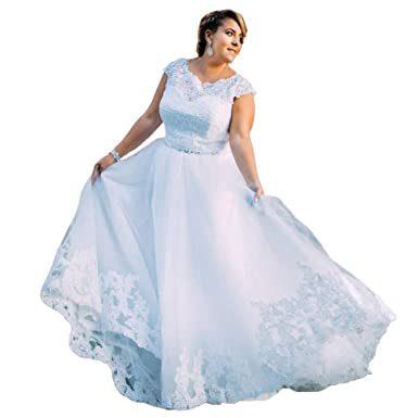 Ibridal Plus Size Wedding Dresses Lace Bridal Gowns for Big ...