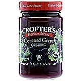 Crofters Organic Concord Grape Premium Fruit Spread (6x16.5Oz)
