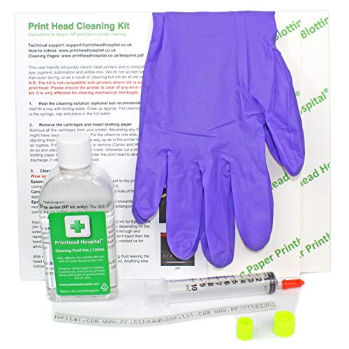 Print Head Cleaning Kit for Canon Hewlett Packard HP Deskjet Officejet Photosmart - 5 Ounce ()