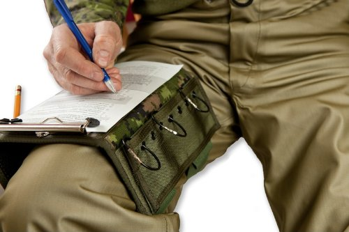 Pilots Modular Kneeboard, Tactical Clipboard, includes removable Map Pouch, 3 Ring Binder Strip, 2 Mesh Pouches and Pen Holder