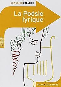 La poésie lyrique par Julie Proust Tanguy