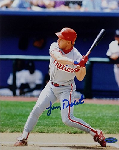 Lenny Dykstra Signed Philadelphia Phillies 8x10 Photo OC Dugout Hologram (OC3) Oc3 Card