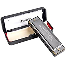 Harmonica Mugig 10-hole 20-tone Blues Harp for Kids and Beginners, Key of C