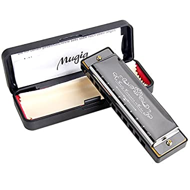 Mugig Diatonic Harmonica Standard 10 Hole Harmonica with Case, Key of C went