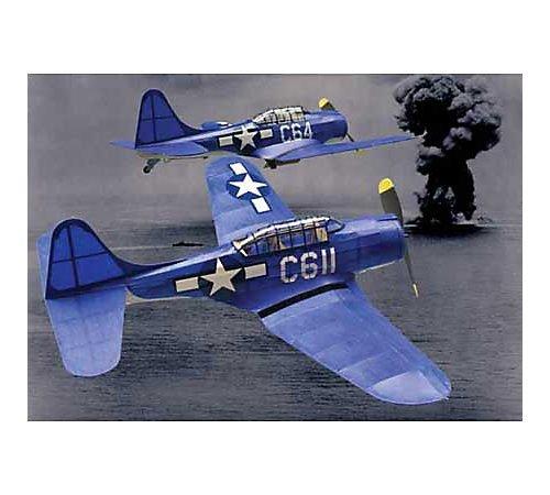 SBD-5 Dauntless Rubber Pwd. Airplane Laser Cut Kit 18