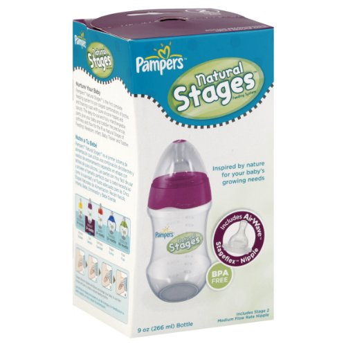 Flow Complete Bottle Feeding System (Pampers Airwave Venting System Stage 2, 9 Ounces, Clear, Single Pack)
