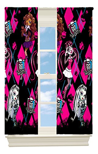Mattel Monster High High Fashion Room Darkening Window Panel, 42 by 63-Inch (Girl Monsters)