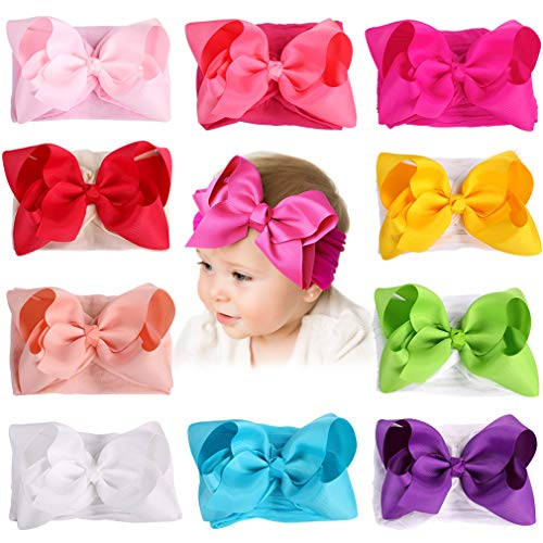 Hair Accessories Baby & Toddler Clothing Cute Baby Headband With Fabric & Satin Flower Soft Stretchy & Pretty Great Color