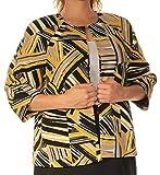 Kasper $89 Womens New 1437 Yellow Printed Suit Jacket 12 Petites B+B