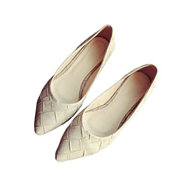 764a56a014033 August Jim Womens Flats Shoes,Pointed Toe Comfort Ballet Shoes Low Heel  Flat Shoes