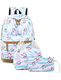 Teens Backpack for School Boys Girls School Bookbag Set Travel Daypack