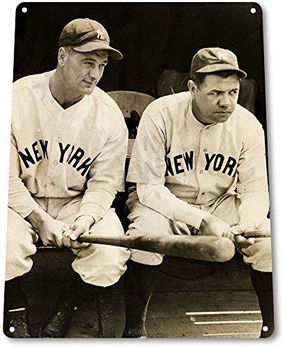 "TIN SIGN ""Babe Ruth & Lou Gehrig"" Yankees Decor Baseball ..."