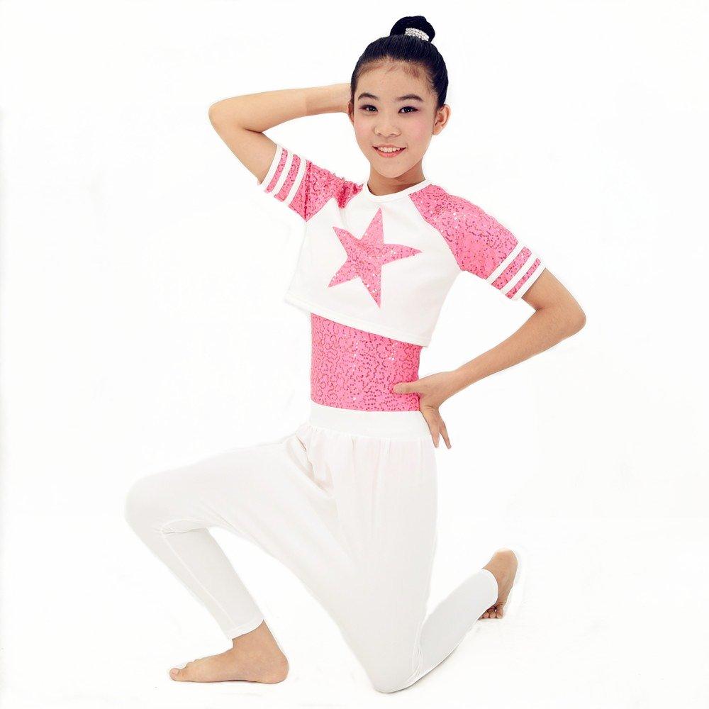 e27b730e1c23 Amazon.com: MiDee Girl Sequin Dance Outfits Hip Hop Dance Dress Gym Suit:  Clothing