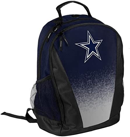 FOCO NFL Dallas Cowboys Logo Gradient Print Primetime Deluxe Backpack, Team Color, Standard, One Size