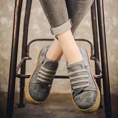 per Estivi Grigio Mocassini Ragazzi Pelle Scivolare UOMOGO Vestito Primavera Donna su Scarpe Scamosciata Pantofola Mocassini Royal per Scarpe wITBE