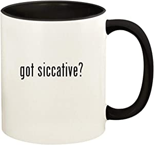 got siccative? - 11oz Ceramic Colored Handle and Inside Coffee Mug Cup, Black