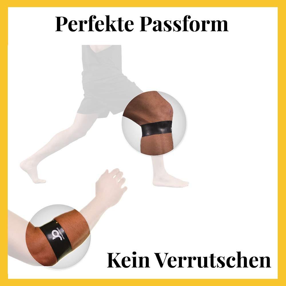 Perfekte Passform Knie//Arm /Überall Einsetzbar Lindert Schmerzen Sport, Fitness, Alltag Kein Verrutschen f/ür Herren und Frauen Jumperband classic Patella Bandage