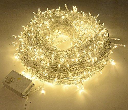 Bloomwin LED Guirnalda Tira Luces Flexible Cadena Luces Coritna Luces 50 Metros 400 Bombillas para Decoraci&