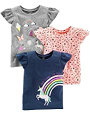 Simple Joys by Carter's Baby-Girls 3-Pack Short-Sleeve Graphic Tees