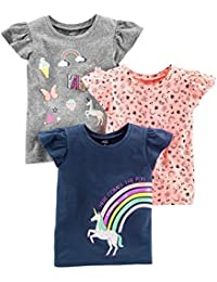 Girls' Toddler 3-Pack Graphic Tees