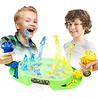 Toy'n Versus Game Toy Guns Box for Children, Creative Kids Toys for 3 4 5 6 Years Old Boys and Girls, Battle Shooting Bounce Board Game for Christmas Halloween Party