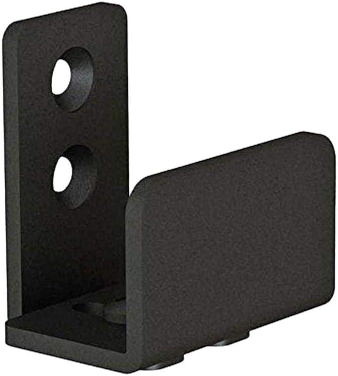 Yardwe Bodenhalterung f/ür die Wandmontage aus Stahlblech mit Schiebet/ür 4,5 x 2,8 x 4,8 cm Schwarz