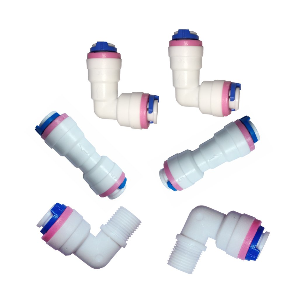 Check Valve,6 PCS Malida 1//4 inch Quick Connect Check Valve for RO purifiers Water Reverse Osmosis System