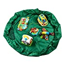 Play Mat and Toy Storage Organizer for Baby and Kids by d.o.t - Doubles as Toy Box and Chest to Keep House Tidy (Green)