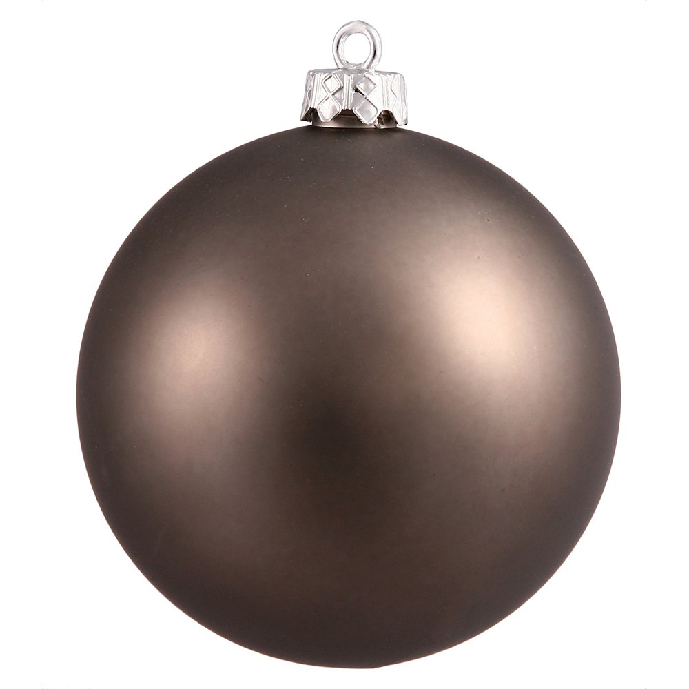 Vickerman Matte Finish Seamless Shatterproof Christmas Ball Ornament, UV Resistant with Drilled Cap, 24 per Bag, 2.4'', Pewter