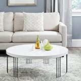 Safavieh Home Collection Keelin Mid-Century Modern White Coffee Table