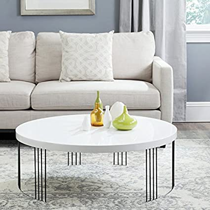 Amazoncom Safavieh Home Collection Keelin Mid Century Modern White