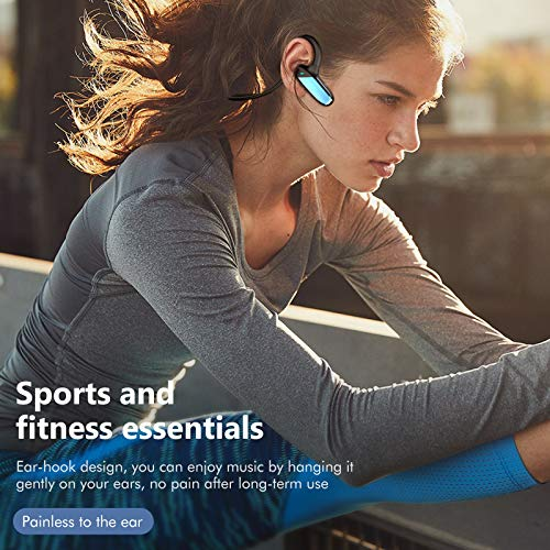 Wireless Earbuds Ear Bluetooth Sport Earphone 5.0 in-Ear Wireless Headphones with IPX5, Touch Control, TWS Ear Buds W/Mic & Charging Case Ideal for Running Workout Gym - Black