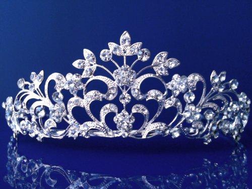 SC Princess Bridal Wedding Prom Silver Rhinestone Crystal Tiara 1251