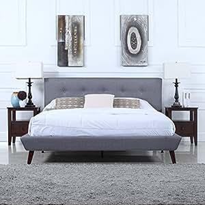 divano roma furniture mid century grey linen. Black Bedroom Furniture Sets. Home Design Ideas
