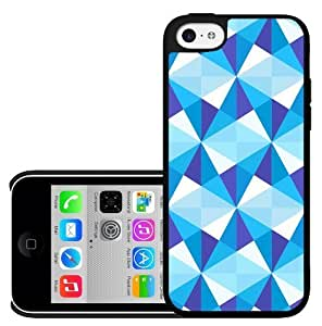 MMZ DIY PHONE CASEBright Blue Star Diamond Pattern Design Hard Snap on Cell Phone Case Cover iPhone (5c)