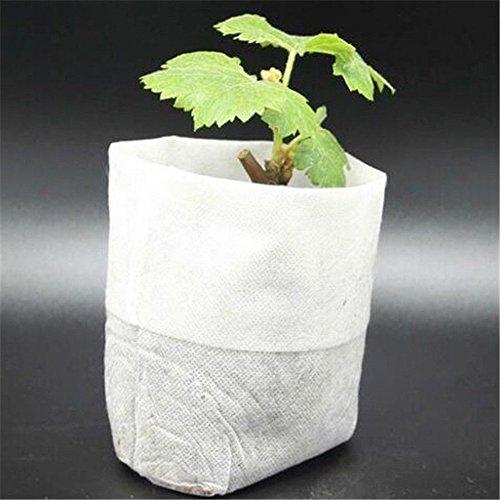 Grow Pot Case (Xinhuaya 100 Pcs Plants Nursery Pot/Pots Seedlings Flower Plant Container Seed Starting Pots 7.9x8.7