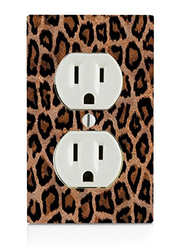 Leopard Print Design Pattern Electrical Outlet Plate
