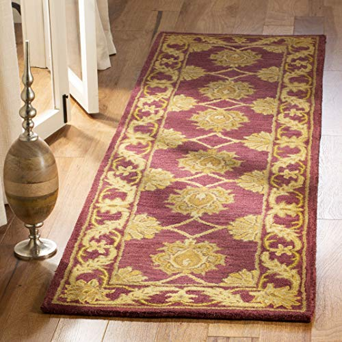 Safavieh Heritage Collection HG314B Handcrafted Traditional Oriental Maroon Wool Area Rug 2 x 3