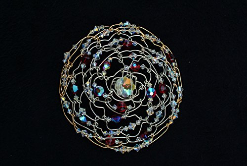 Kippot for women - Wire woven with genuine Swarovski crystal beads by Gloria's Kippot & Jewelry