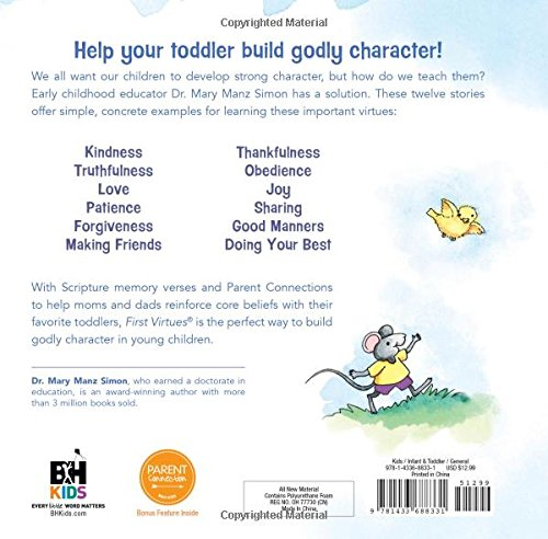First Virtues Padded Cover 12 Stories For Toddlers Dr Mary Manz