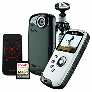 Kodak PlaySport (Zx3) HD Waterproof Pocket Video Camera Bundle (Black) (Discontinued by Manufacturer)