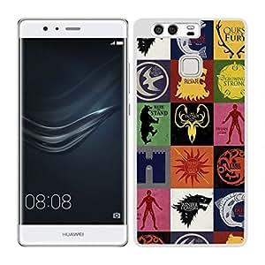 Funda carcasa para Huawei P9 Plus diseño juego de tronos 1 borde blanco