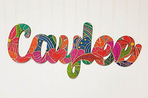 Wooden Name Cutout for Coloring, Name Arts and Crafts Kit from Jam Company