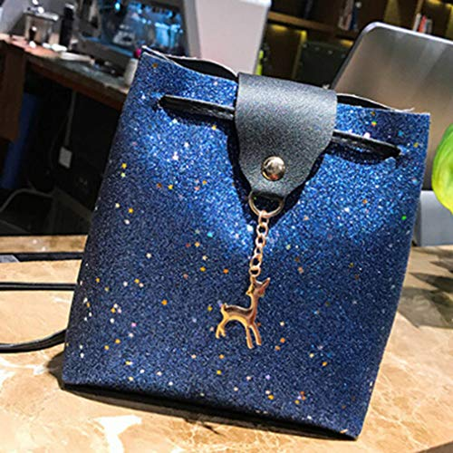 Bleu Seau Sac Sac Dames Décoration L Rose Sequin Main À Messenger H Dailyg Fawn 5 Fille W Crossbody 18cm Cartable 17 gn7FE5xqR