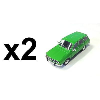 DeAgostini Lot DE 2 Voitures Miniatures identiques : Dacia 1300 Kombi 1:43 IXO (ref: RU84)